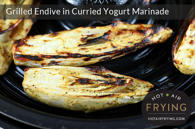 Grilled Endive in Curried Yogurt Marinade